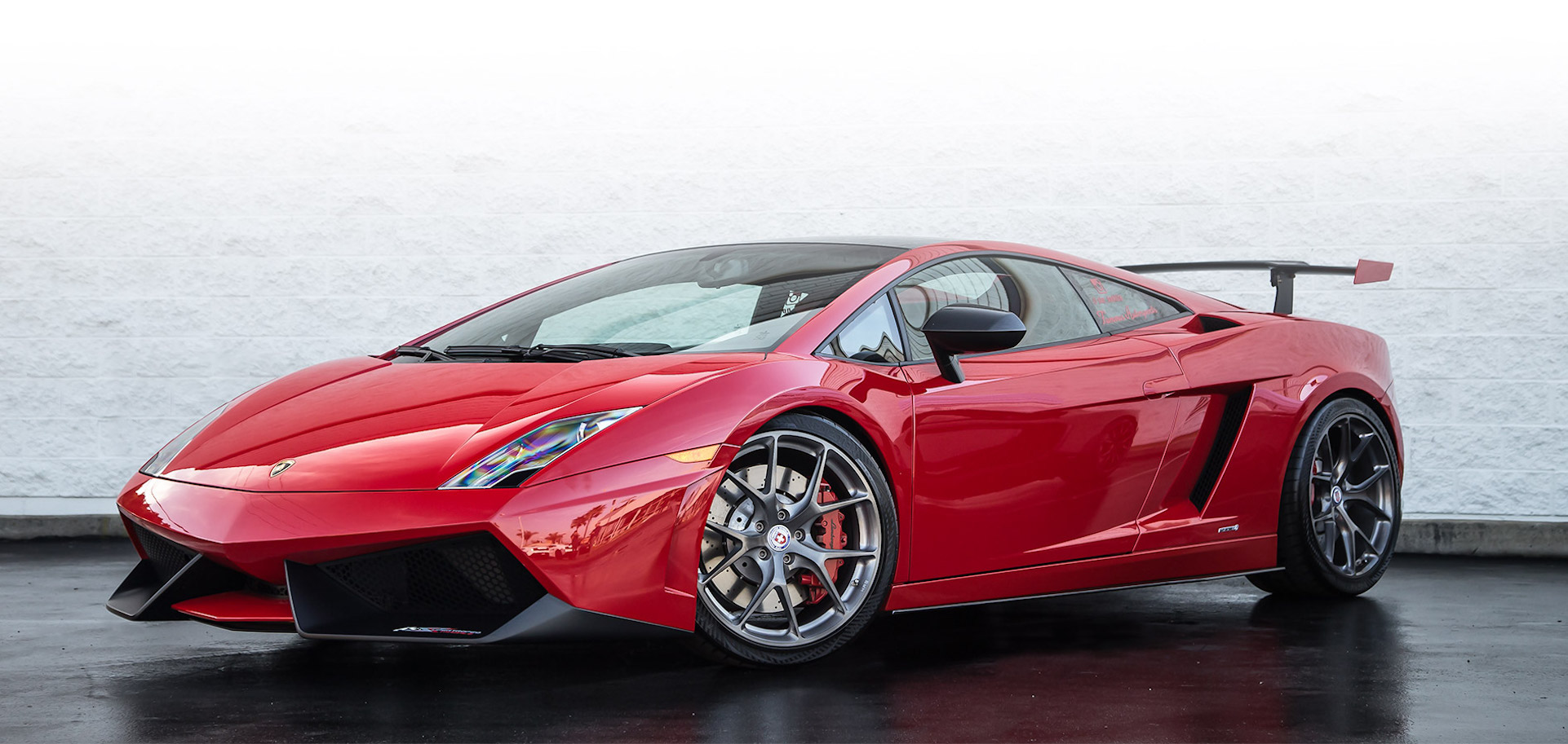 car paint protection on red lamborghini